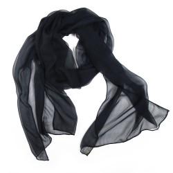 SO BASIC, plain rolled scarf in silk chiffon