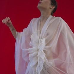 Édito Jean-Baptiste Carhaix, Ccape en organza de soie plissée