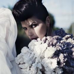 Édito Sébastien Jourdan, robe fleurs en soie