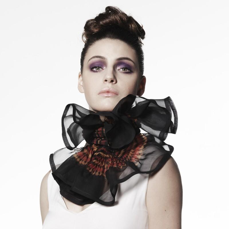 Marché Des Soies 2012, ateliers créatifs, écharpe plissée en organza de soie