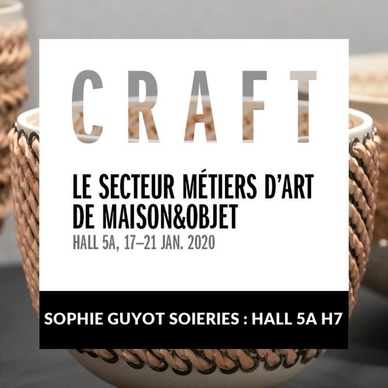 Sophie Guyot soieries expose à MAISON&OBJET Janvier 2020
