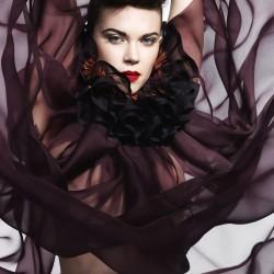 Tutu dress, pleated silk organza, multicolor made in Lyon France, sophie Guyot Silks