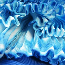 Coulipli 027 two tone scarf, pleated silk twill by sophie guyot in Lyon France