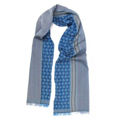 Woven scarf, midi, silk & cotton, made in Lyon France by sophie guyot silks.