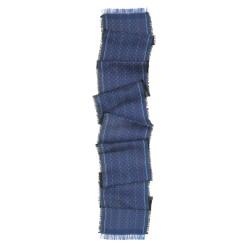 Écharpe macro micro mini bleu multicolore tesselles