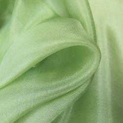 Square 140 plain tender green giant and light silk fine canvas sophie guyot silk made in Lyon France
