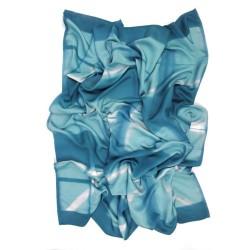Maxi carré 140 Ottoïtapla à motifs géométriques en ottoman de soie teint par itajime par sophie guyot soierie lyon france