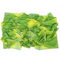 Giant square scarf 140 Ottoïtapla with geometric patterns in silk ottoman tie and dye by itajime sophie guyot silks