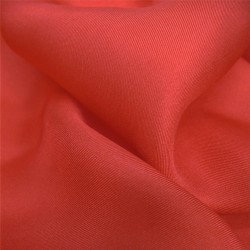 Square 90 plain scarlet red in silk twill, rolled machine by sophie guyot silks in Lyon.