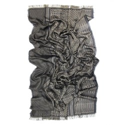 Maxi woven scarf, silk and cotton, made in Lyon France by sophie guyot silks