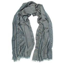 Maxi woven scarf, silk and cotton, made in Lyon France by sophie guyot silks designer and fashion accessory