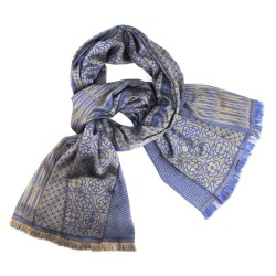 Maxi woven scarf, silk and wool, made in Lyon France by sophie guyot silks
