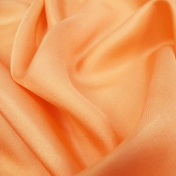 Square 90 plain melon in silk twill, rolled machine by sophie guyot silks in Lyon.
