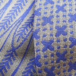 woven jacquard scarf midi size silk wool made in lyon france sophie guyot silks