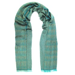 Midi woven scarf, silk and cotton, made in Lyon France by sophie guyot silks accessory and fashion designer