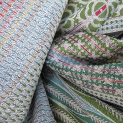 "Maxi scarf ""parc de la tete d'or "" silk & wool, multicolor, made in Lyon France by sophie guyot silks"