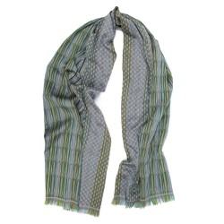 Midi woven scarf silk wool parc de la tete d'or made in Lyon France sophie guyot silks lyon france