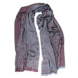 Maxi woven scarf, silk and wool, made in Lyon France by sophie guyot silks and fashion studio
