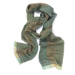 Écharpe mini, tissage jacquard, en soie et coton, fabriqué à Lyon, France par sophie guyot soieries créateur mode et accessoire