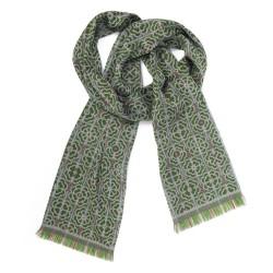 écharpe étroite tissée technique jacquard soie laine fabriquée à Lyon france sophie guyot créatrice mode et accessoire