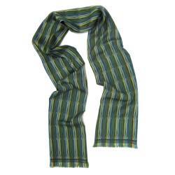 Mini woven scarf silk wool parc de la tete d'or made in Lyon France sophie guyot silks lyon france