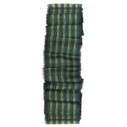 Écharpe format mini tissage jacquard soie laine parc de la tête d'or fabriqué à Lyon, France par sophie guyot soieries