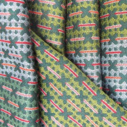 narrow woven jacquard scarf silk wool made in lyon france sophie guyot silk fashion accessory designs