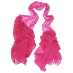 Pleated granmousse scarf in silk chiffon made in Lyon France Sophie Guyot designer fashion accessories and silks